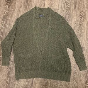 Green American Eagle Cardigan